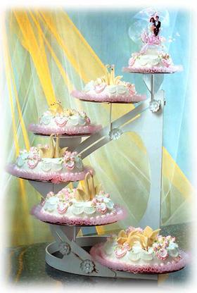 生日造型蛋糕全国配送到府上 婚宴多层蛋糕 长相厮守 六层结婚蛋糕图片