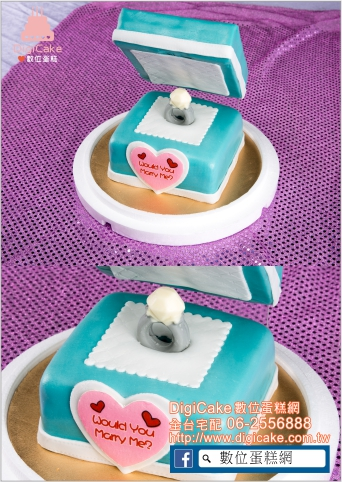 點此進入求婚戒指(水藍)造型蛋糕的詳細資料!