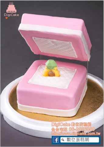 點此進入求婚戒指(粉紅)造型蛋糕的詳細資料!