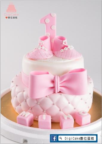 點此進入週歲娃娃鞋雙層蛋糕(白+淡粉)的詳細資料!