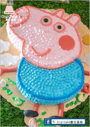 點此進入佩佩豬弟弟喬治造型蛋糕的詳細資料!