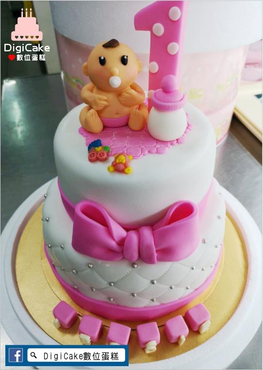 點此進入雙層女寶寶周歲翻糖造型蛋糕的詳細資料!